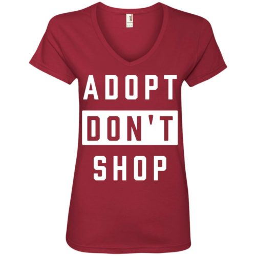 Adopt Don't Shop V-Neck Tee