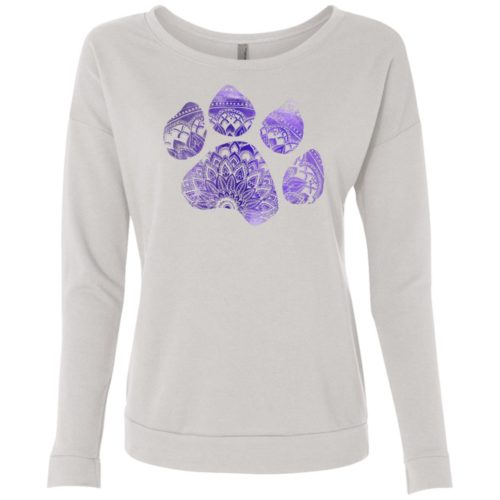 Mandala Paw Scoop Neck Sweatshirt
