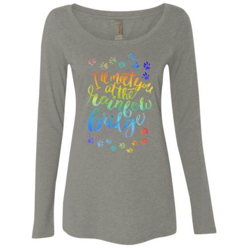 Rainbow Bridge Tee Ladies' Scoop Neck Long Sleeve Shirt