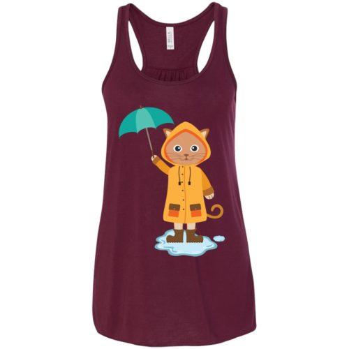 Rainy Kitten Flowy Tank