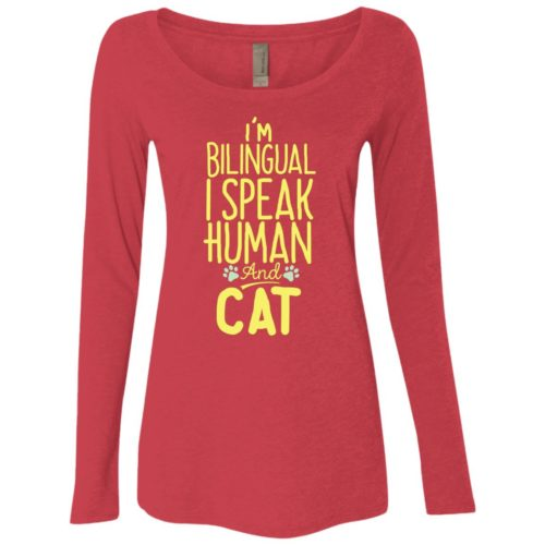 I'm Bilingual Fitted Scoop Neck Long Sleeve