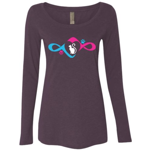 Infinity Love Paw Fitted Scoop Neck Long Sleeve
