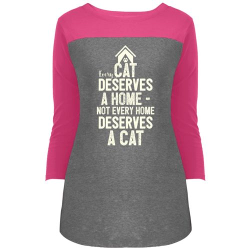 Every Cat Deserves Colorblock 3/4 Sleeve