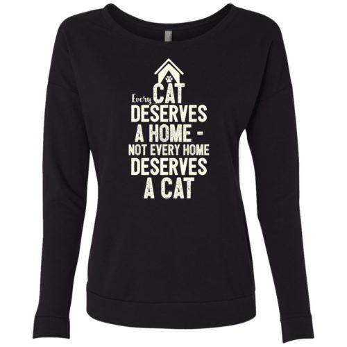 Every Cat Deserves Ladies' Scoop Neck Sweatshirt