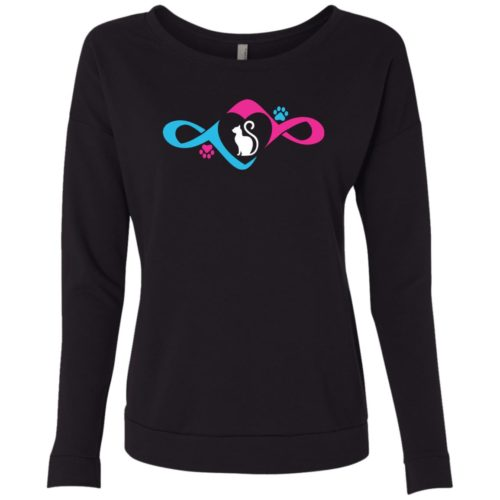 Infinity Love Paw Scoop Neck Sweatshirt