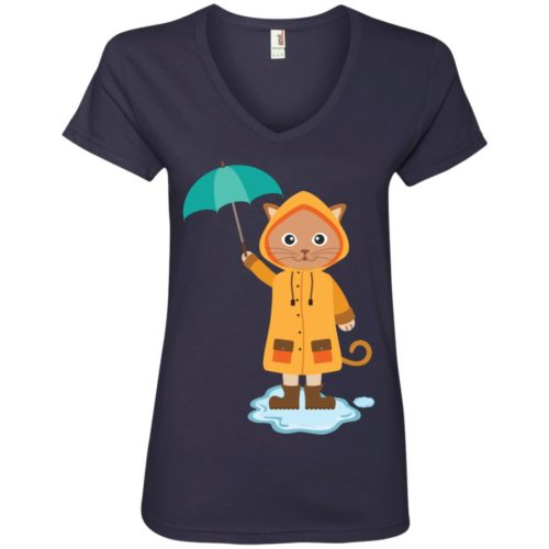 Rainy Kitten V-Neck Tee