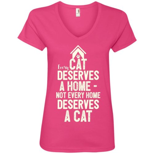 Every Cat Deserves V-Neck Tee