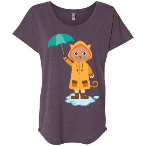 Rainy Kitten Ladies' Slouchy T-Shirt
