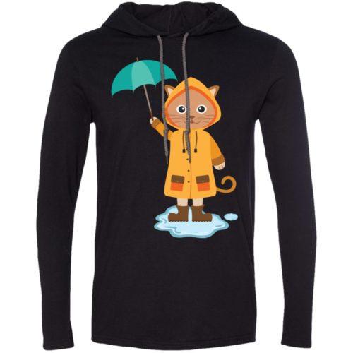 Rainy Kitten T-Shirt Hoodie