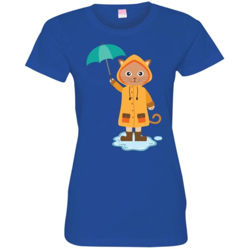 Rainy Kitten Fitted Tee