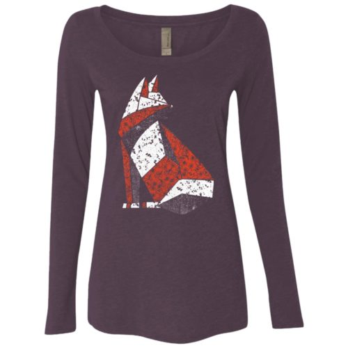 Quilted Cat Light Ladies' Scoop Neck Long Sleeve Shirt