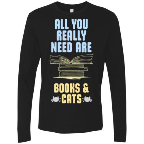 Books & Cats Premium Long Sleeve Shirt