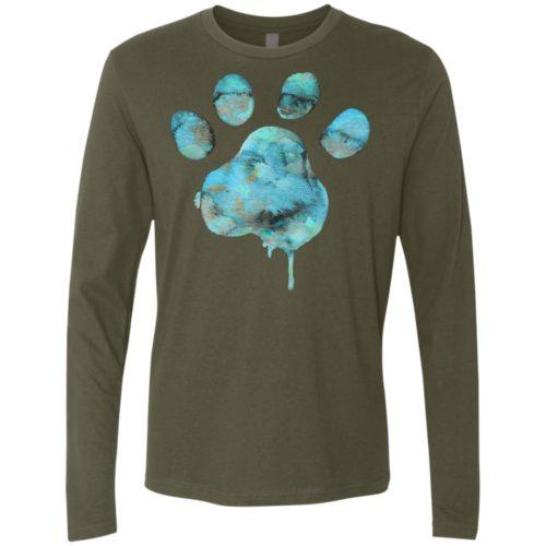 Watercolor Paw Premium Long Sleeve Shirt