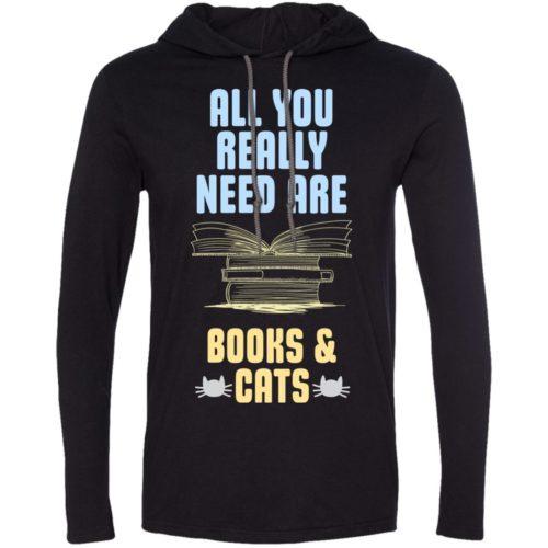 Books & Cats T-Shirt Hoodie