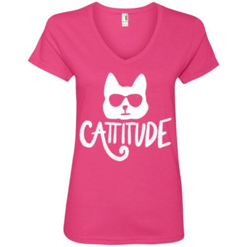 Cattitude V-Neck Tee