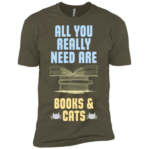 Books & Cats Premium Tee