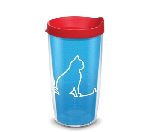 Heartbeat Cat Tervis Insulated 16oz BPA-Free Plastic Tumbler