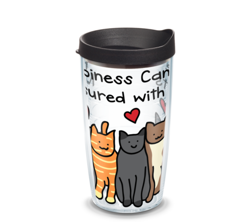 Happiness Cat Tervis Insulated 16oz BPA-Free Plastic Tumbler