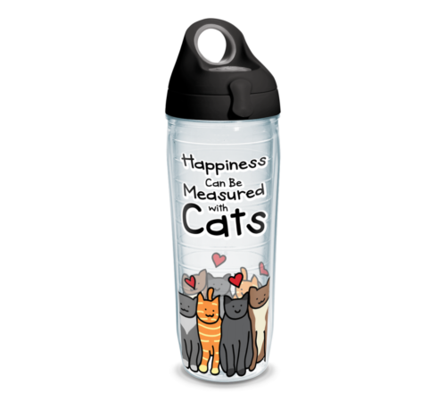 Happiness Cat Tervis Insulated 24oz BPA-Free Plastic Water Bottle