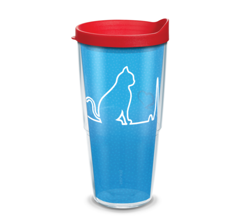 Heartbeat Cat Tervis Insulated 24oz BPA-Free Plastic Tumbler