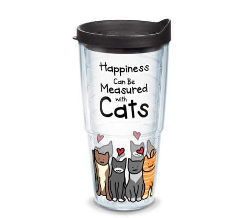 Happiness Cat Tervis Insulated 24oz BPA-Free Plastic Tumbler