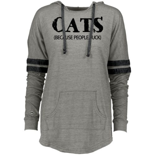 Cats: Because People Suck Varsity Slouchy Hoodie
