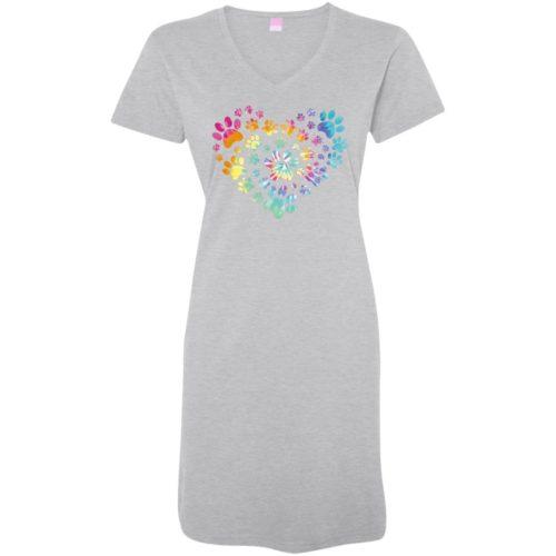 Heart Paw Tie Dye Sleepshirt