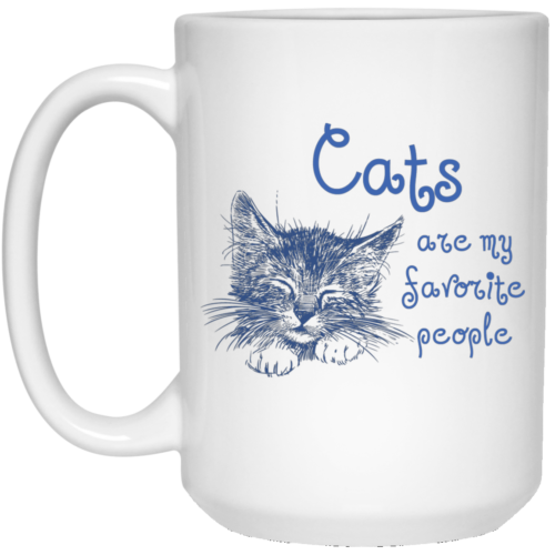 Cats Favorite People 15 oz. Mug