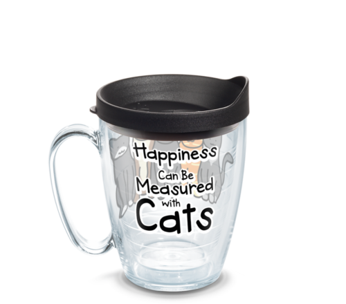 Happiness Can Be Measured With Cats Tervis Insulated 16oz BPA-Free Plastic Mug