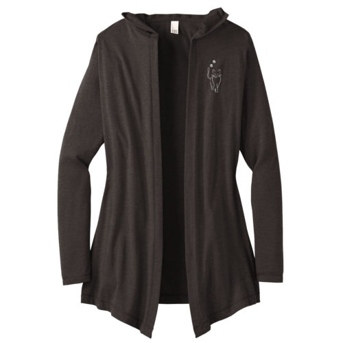 Cat Walk Embroidered Women's Hooded Cardigan