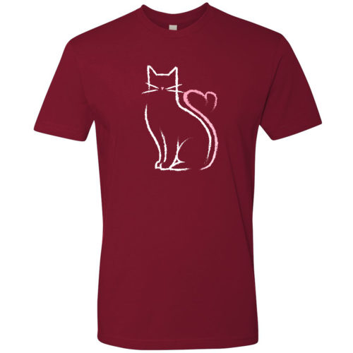 Cat Heart Tail Premium Tee