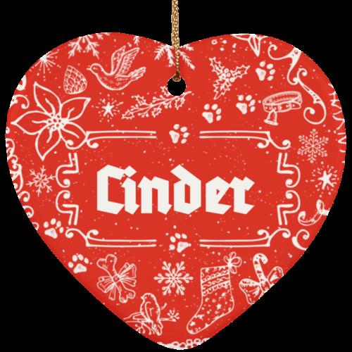 Ye Olde Christmas Customizable Ceramic Heart Ornament
