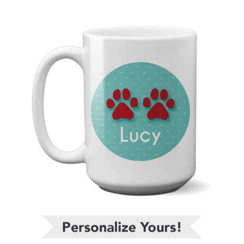 Paws Personalized 15 oz. Mug