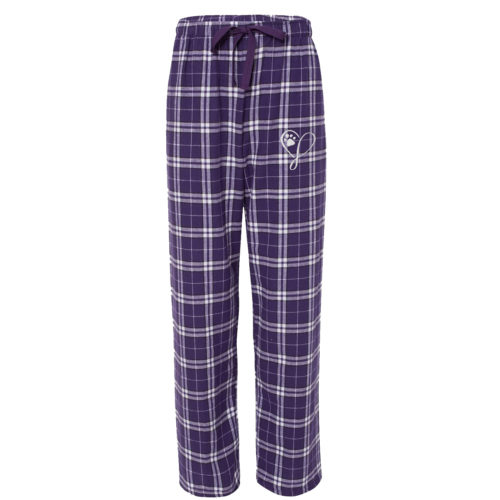 Elegant Heart Embroidered Flannel Pants