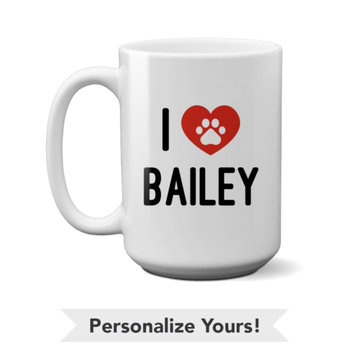 iHeart Personalized 15 oz. Mug