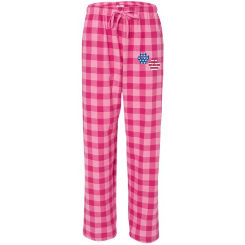 Flag Paws USA Embroidered Flannel Pants