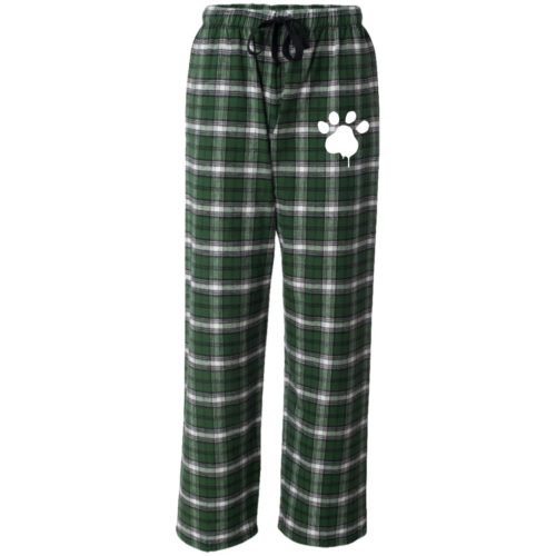 Watercolor Paw Embroidered Flannel Pants