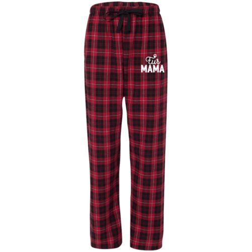 Fur Mama Embroidered Flannel Pants