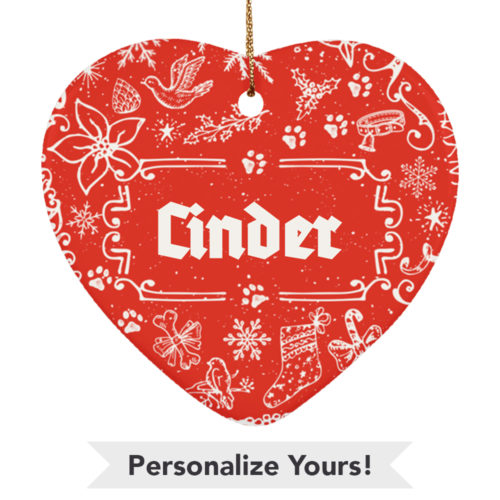 Ye Olde Christmas Customizable Ceramic Heart Ornament