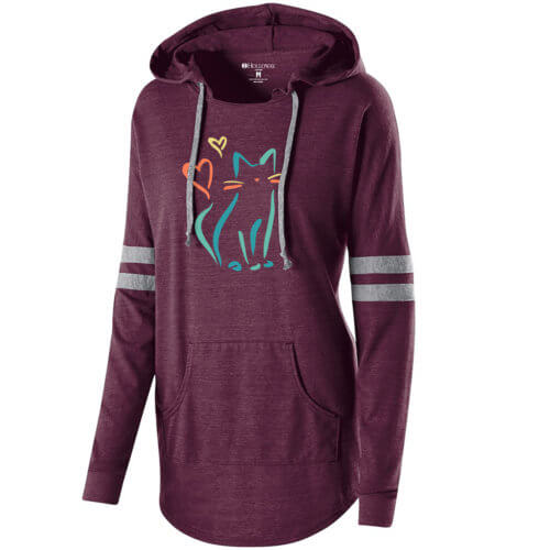 Purr Purr Pretty Kitty Varsity Slouchy Hoodie