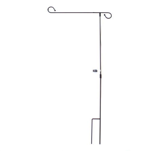 Garden Flag Pole Black Metal