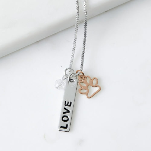 Foundation of LOVE Three Charm Necklace