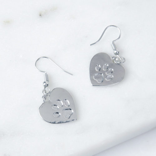 Paws In My Heart Dangle Earrings