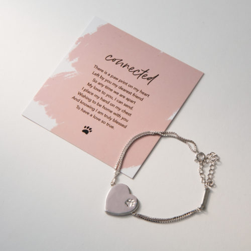 Limited Edition Connected At The Heart Sterling Silver Bracelet