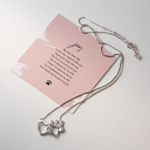 Limited Edition My Pet Brings Me Joy Sterling Silver Necklace