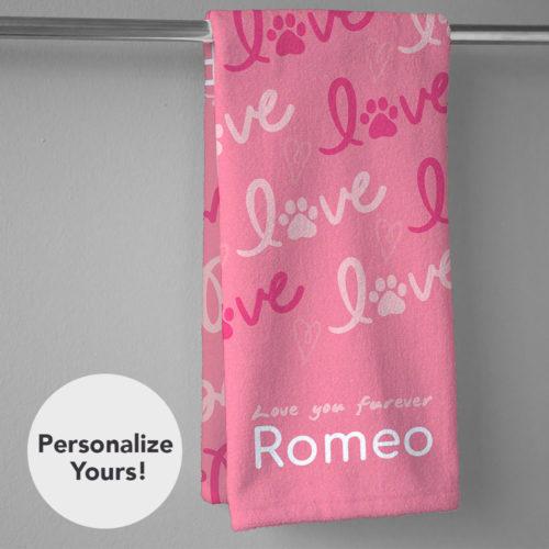 Love Love Furever Personalized Hand Towel