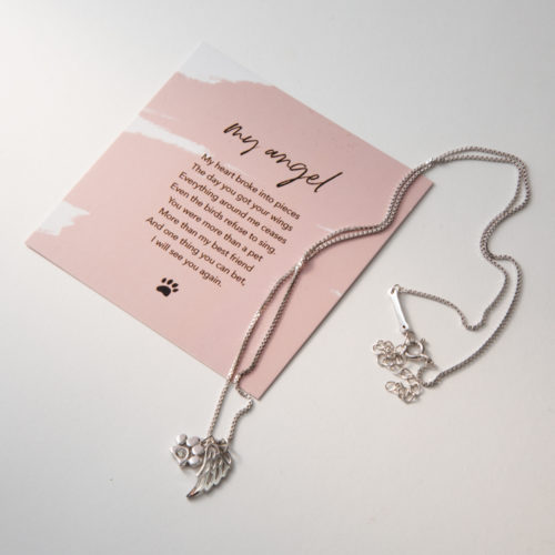 The Miracle of Love My Angel Sterling Silver Necklace