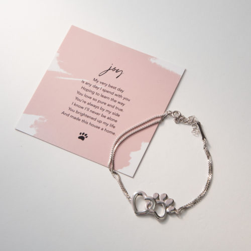 Limited Edition My Pet Brings Me Joy Sterling Silver Bracelet