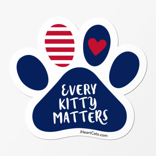 Every Kitty Matters Paw Car Magnet