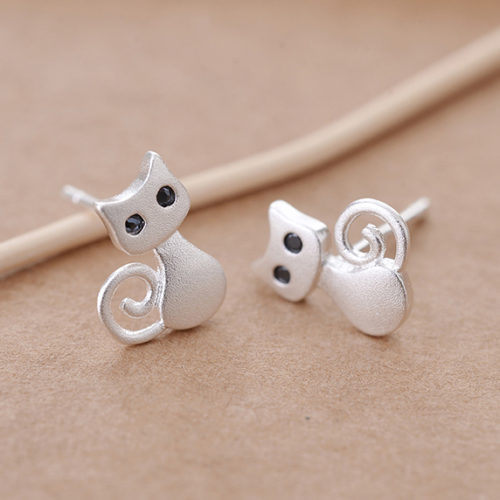 Cute Little Kitty Stud Earrings